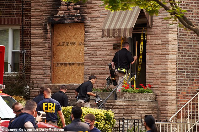 The FBI was at the scene early Wednesday as they continued to investigate the fire and subsequent findings
