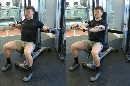 Seated Cable Chest Press image