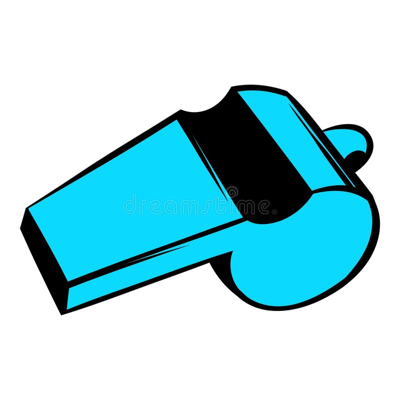 Blue sport whistle icon, icon cartoon vector illustration