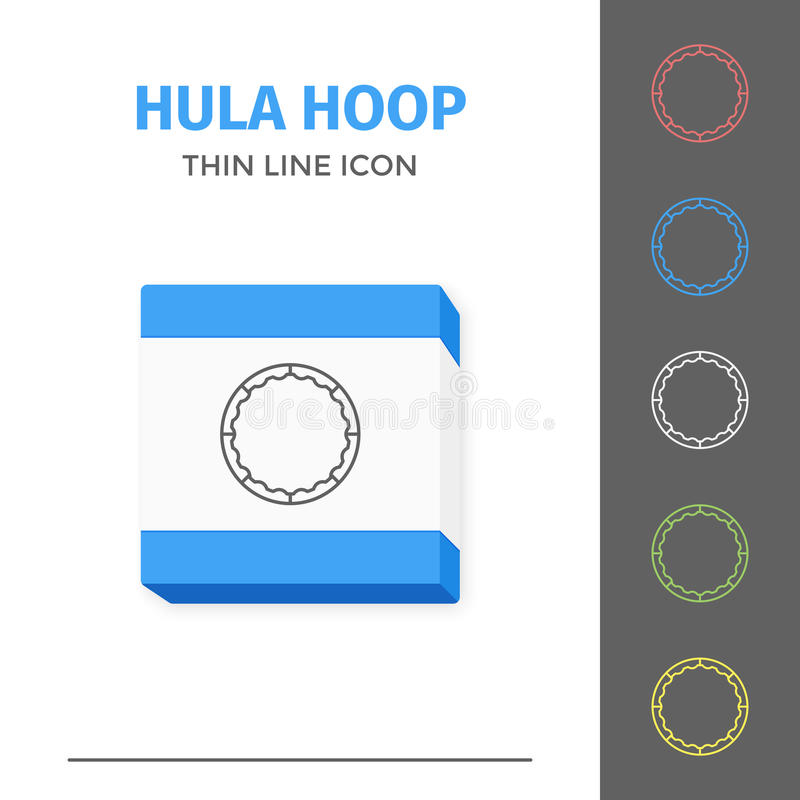 Simple line stroked hula hoop vector icon royalty free illustration