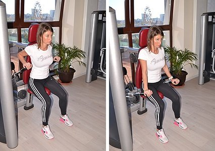 woman performing Shoulder exercises